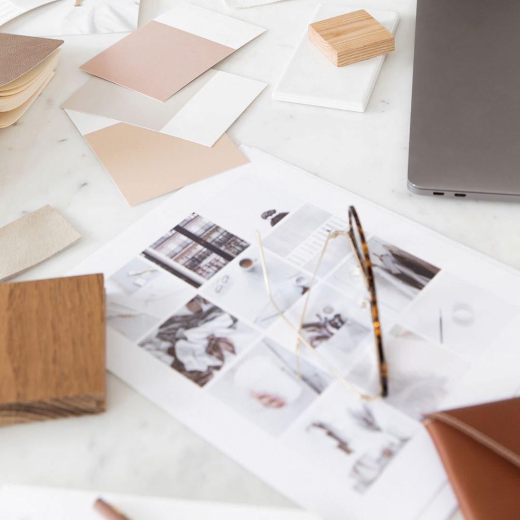 Mood board for DIY brand identity